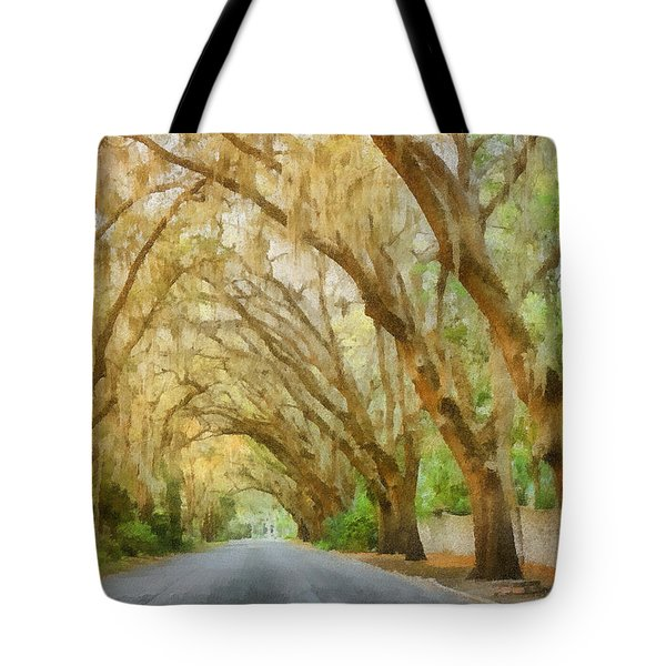Spanish Moss - Symbol Of The South Tote Bag by Christine Till