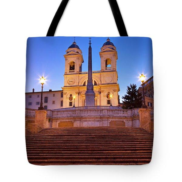 Spanish Steps Dawn Tote Bag by Brian Jannsen
