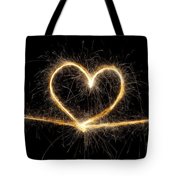 Spark of Love Tote Bag by Tim Gainey