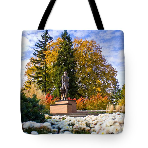 Sparty In Autumn  Tote Bag by John McGraw