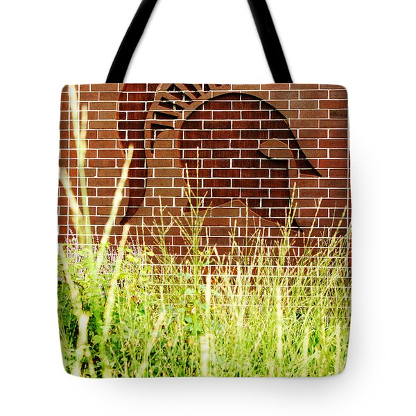 Sparty On The Wall Tote Bag by John McGraw