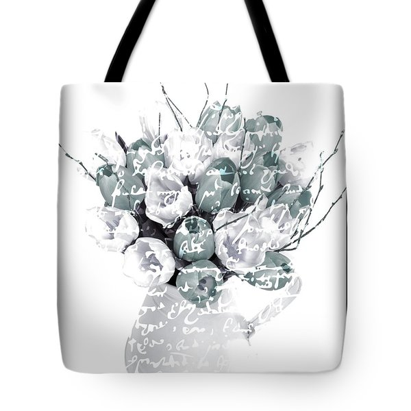 Speak Softly Tulips Tote Bag by Debra  Miller