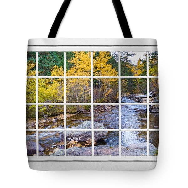 Special Place in the Woods Large White Picture Window View Tote Bag by James BO  Insogna