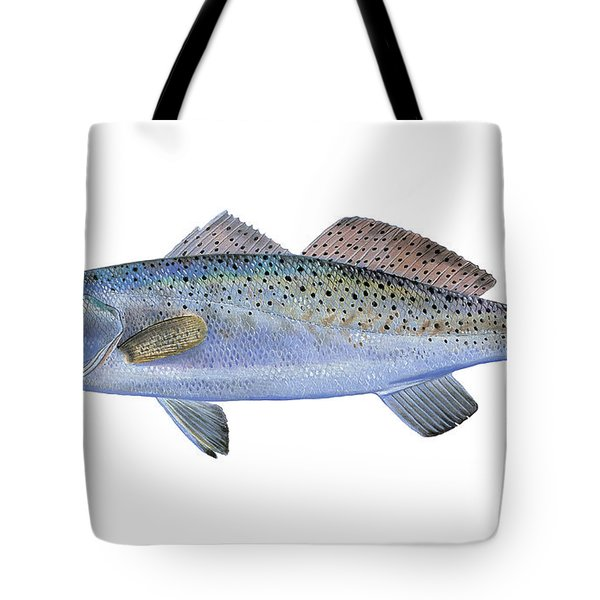 Speckled Trout Tote Bag by Carey Chen