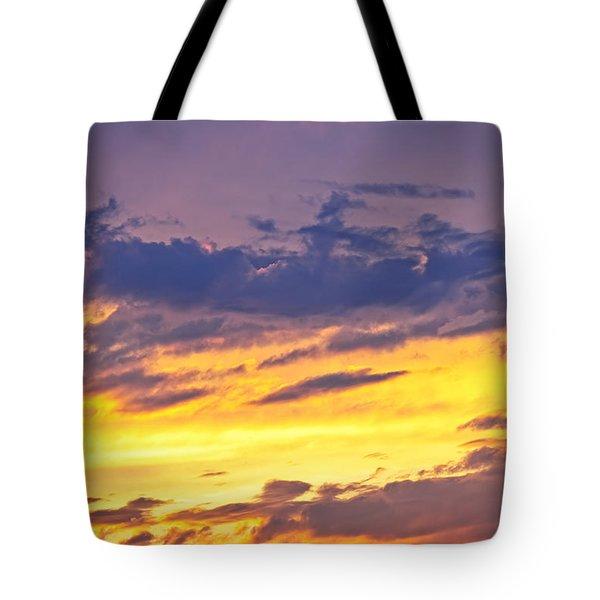 Spectacular sunset Tote Bag by Elena Elisseeva