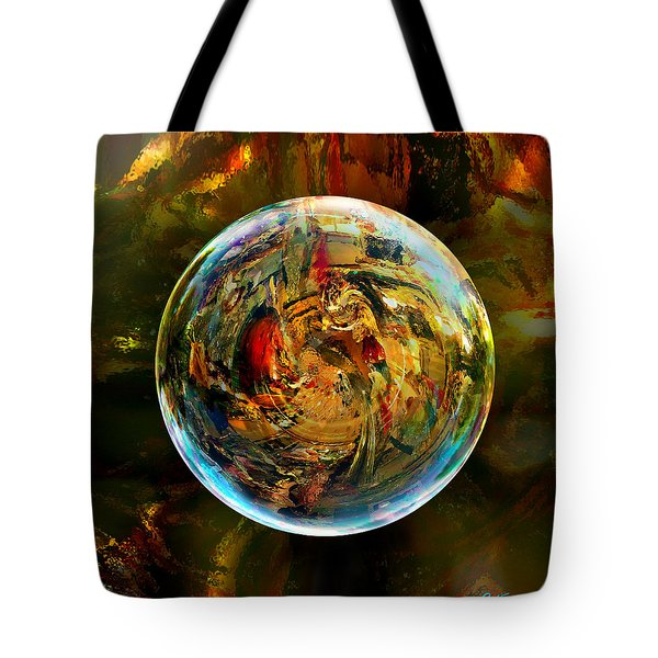 Sphere Of Refractions Tote Bag by Robin Moline