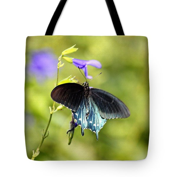 Spicebush Swallowtail Butterfly In Pastel Tote Bag by Suzanne Gaff