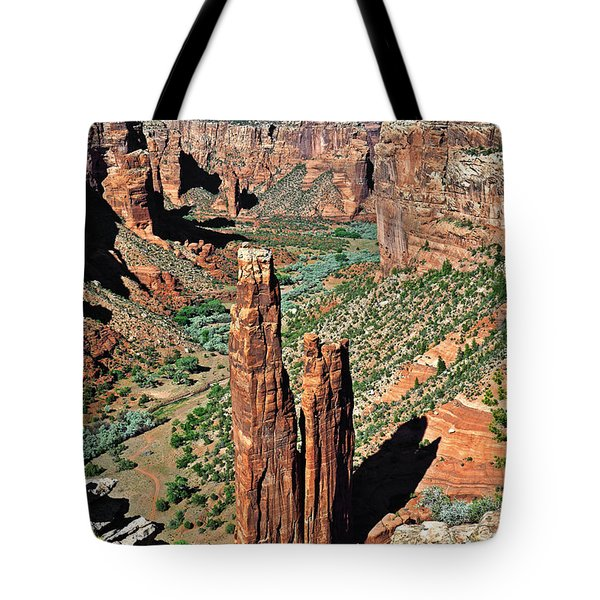 Spider Rock Canyon de Chelly Tote Bag by Christine Till