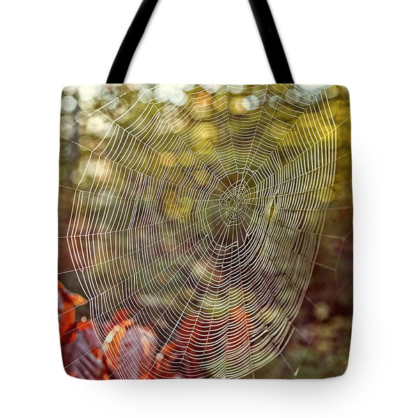 Spider Web Tote Bag by Edward Fielding