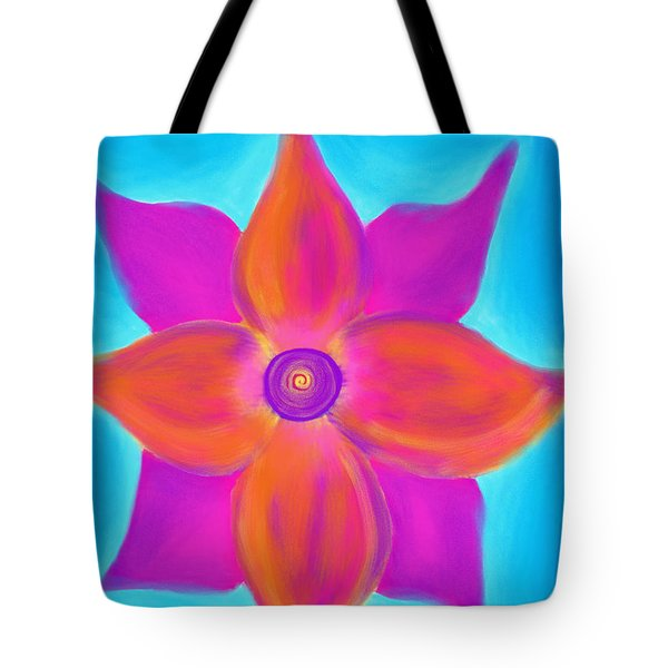 Spiral Flower Tote Bag by Daina White