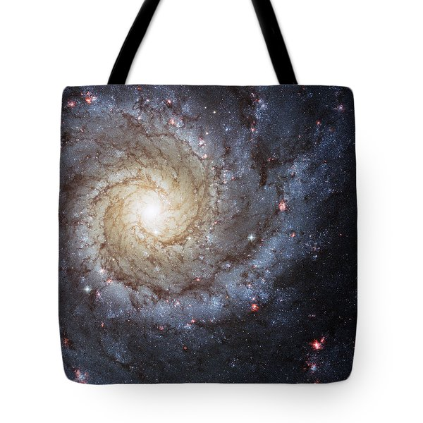 Spiral Galaxy M74 Tote Bag by Adam Romanowicz