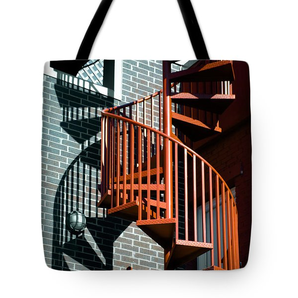 Spiral Stairs - Color Tote Bag by Darryl Dalton
