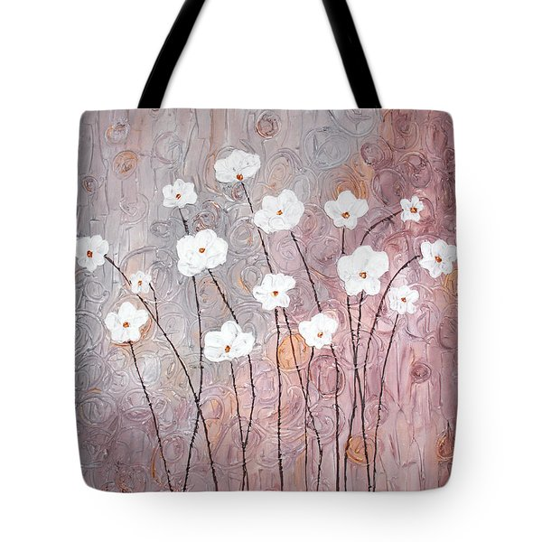 Spiral Whites Tote Bag by Home Art