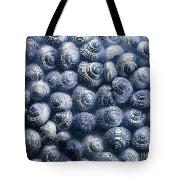 spirals blue Tote Bag by Priska Wettstein