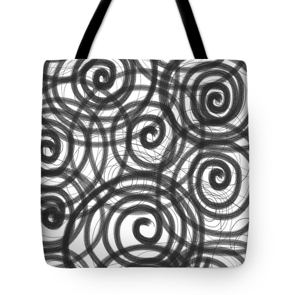 Spirals of Love Tote Bag by Daina White