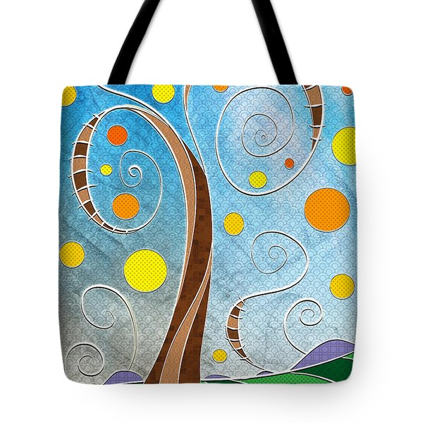 Spiralscape Tote Bag by Shawna  Rowe