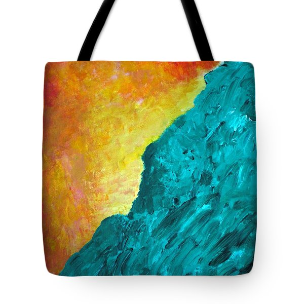 Spirit Dog And Sitting Buddha Or Red Sky In The Morning Tote Bag by Scott Haley