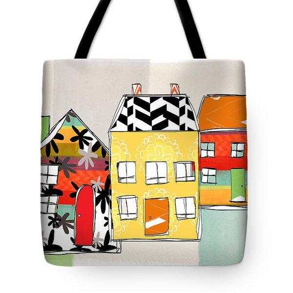 Spirit House Row Tote Bag by Linda Woods