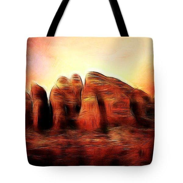 Spirit Mountain Tote Bag by Ellen Heaverlo