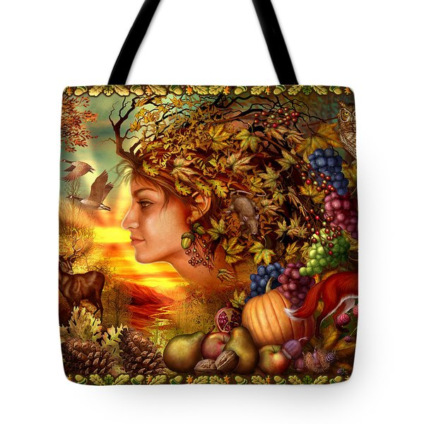 Spirit Of Autumn Tote Bag by Ciro Marchetti