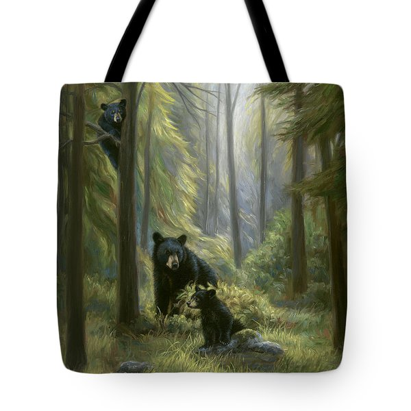Spirits Of The Forest Tote Bag by Lucie Bilodeau