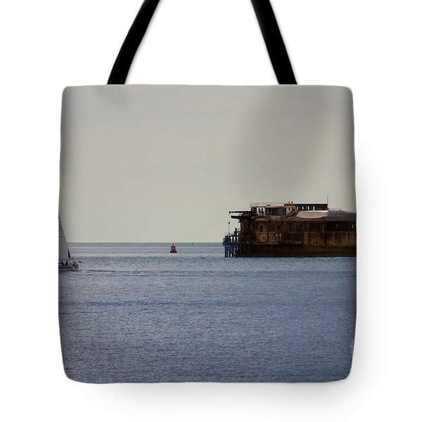Spitbank Fort Martello Tower Tote Bag by Terri Waters