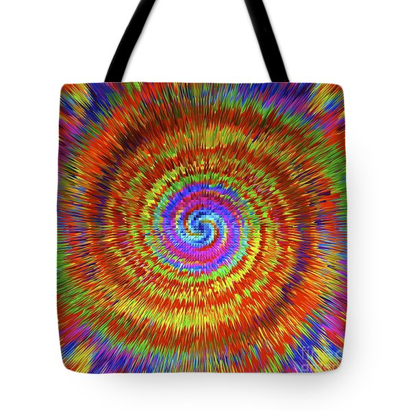 Splattered Lines Tote Bag by Michael Anthony