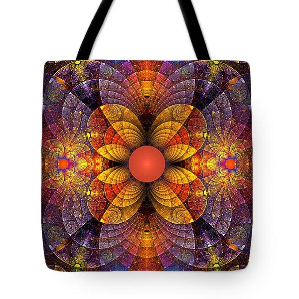 Split Crops Fractal Tote Bag by Peggi Wolfe