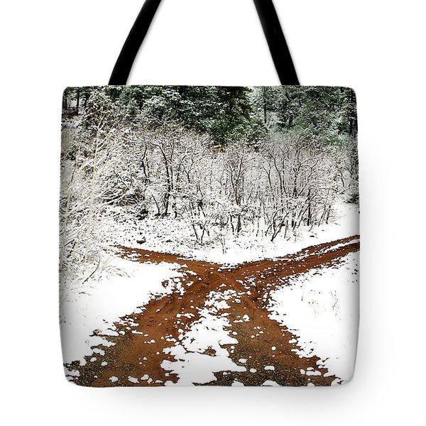 Split Decision Tote Bag by Marilyn Hunt