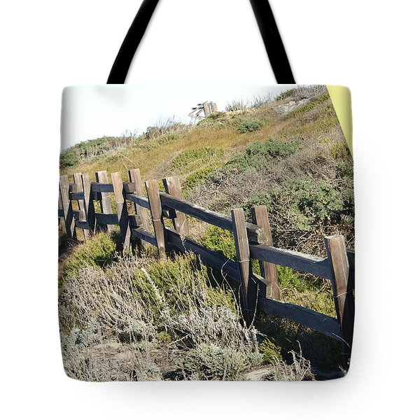 Split Rail Fence Yellow Tote Bag by Barbara Snyder
