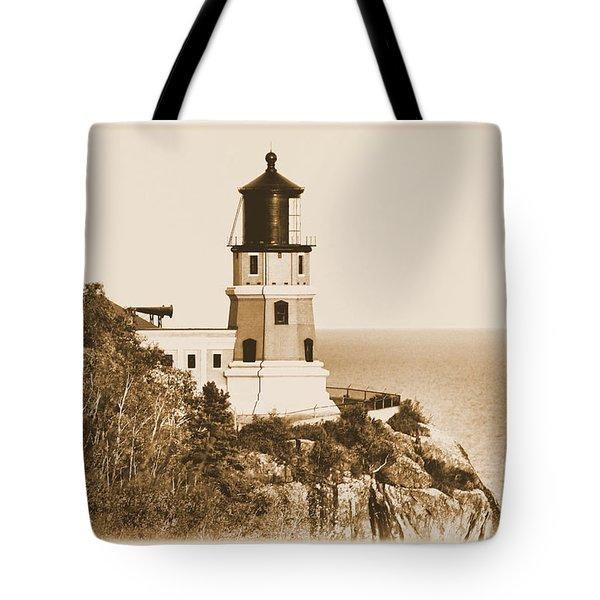 Split Rock Lighthouse Tote Bag by Kristin Elmquist