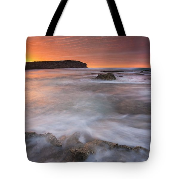 Splitting The Tides Tote Bag by Mike  Dawson