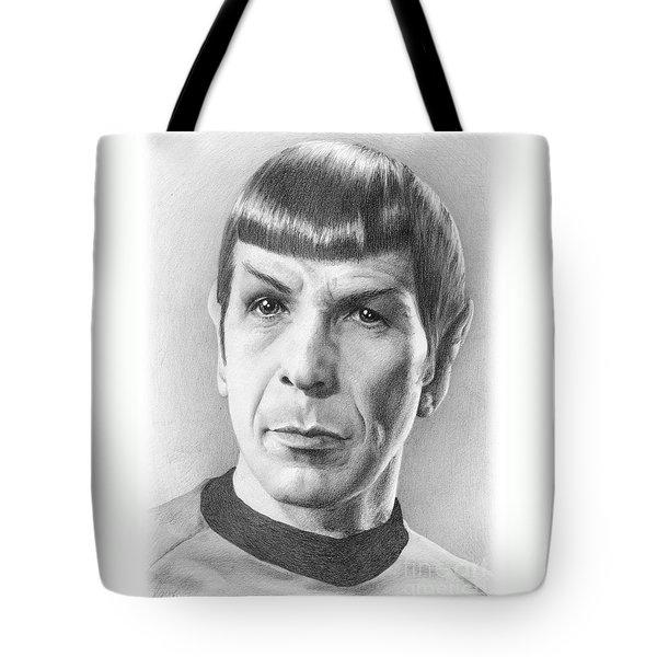 Spock - Fascinating Tote Bag by Liz Molnar