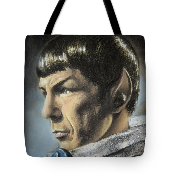 Spock - The Pain Of Loss Tote Bag by Liz Molnar
