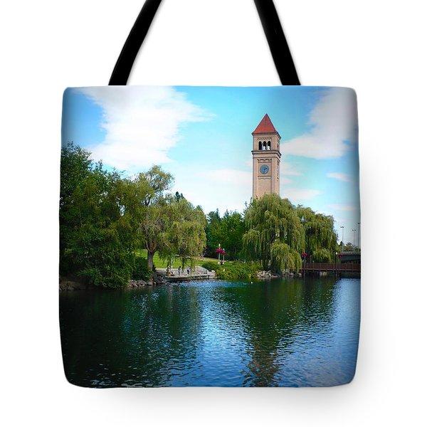 Spokane Riverfront Park Tote Bag by Carol Groenen