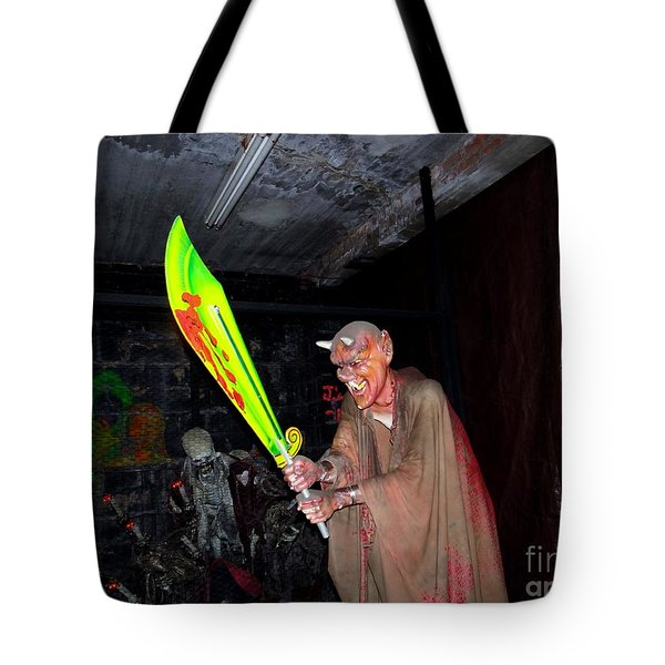 Spook House Tote Bag by Ed Weidman