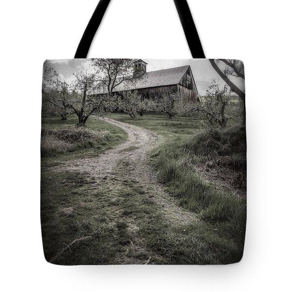 Spooky Apple Orchard Tote Bag by Edward Fielding