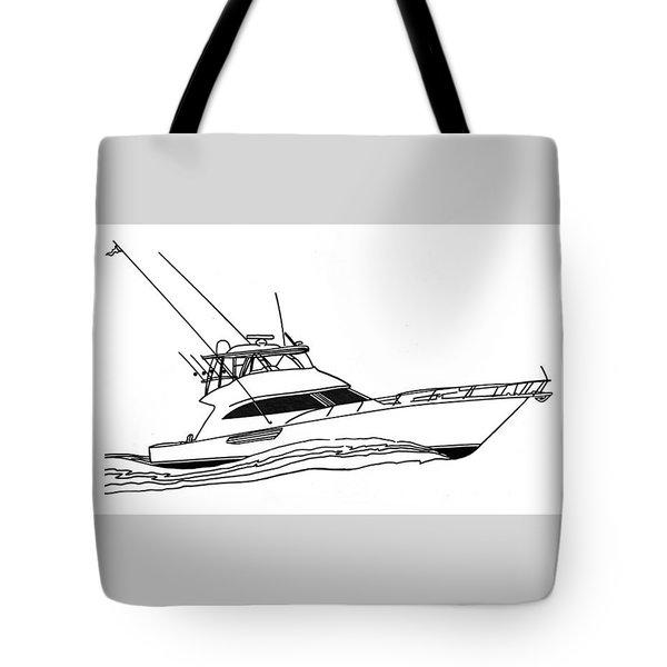 Sport Fishing Yacht Tote Bag by Jack Pumphrey
