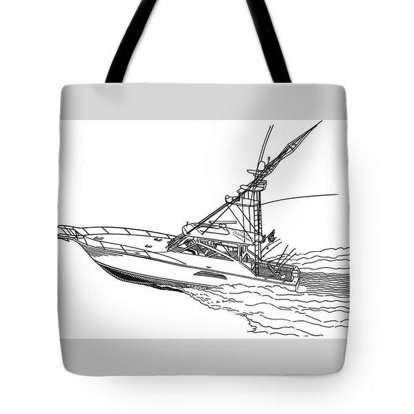 Sportfishing Yacht Tote Bag by Jack Pumphrey