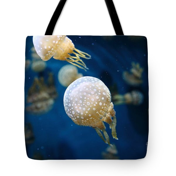 Spotted Jelly Fish 5D24949 Tote Bag by Wingsdomain Art and Photography