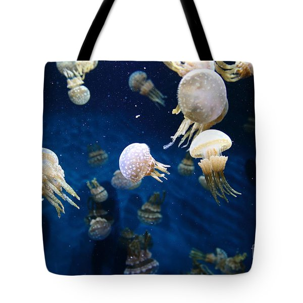 Spotted Jelly Fish 5D24951 Tote Bag by Wingsdomain Art and Photography
