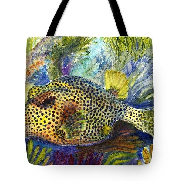 Spotted Trunkfish Tote Bag by Carol Wisniewski