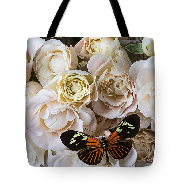 Spray roses Tote Bag by Garry Gay