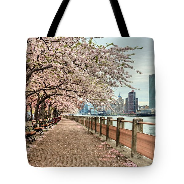 Spring along the East River Tote Bag by JC Findley