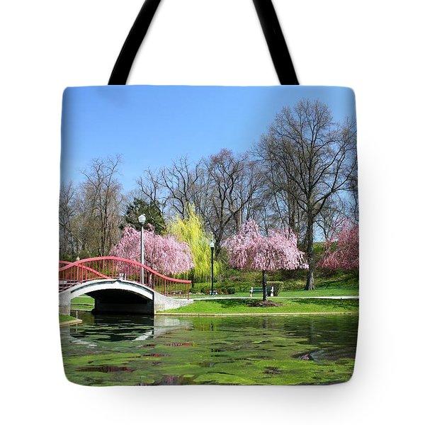 Spring At Italian Lake Tote Bag by Lori Deiter