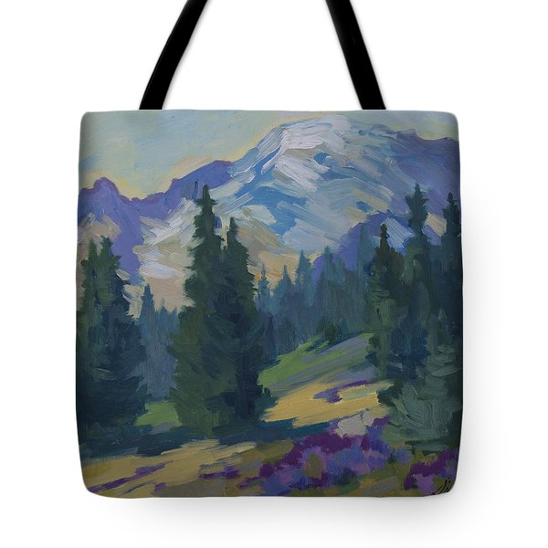 Spring At Mount Rainier Tote Bag by Diane McClary