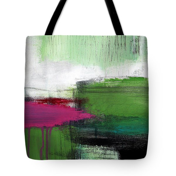 Spring Became Summer- Abstract Painting  Tote Bag by Linda Woods