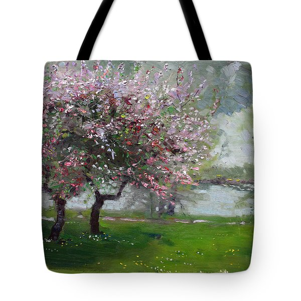 Spring By The River Tote Bag by Ylli Haruni