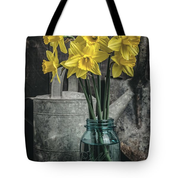 Spring Daffodil Flowers Tote Bag by Edward Fielding