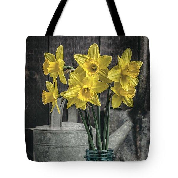 Spring Daffodil Flowers Tote Bag by Edward Fielding